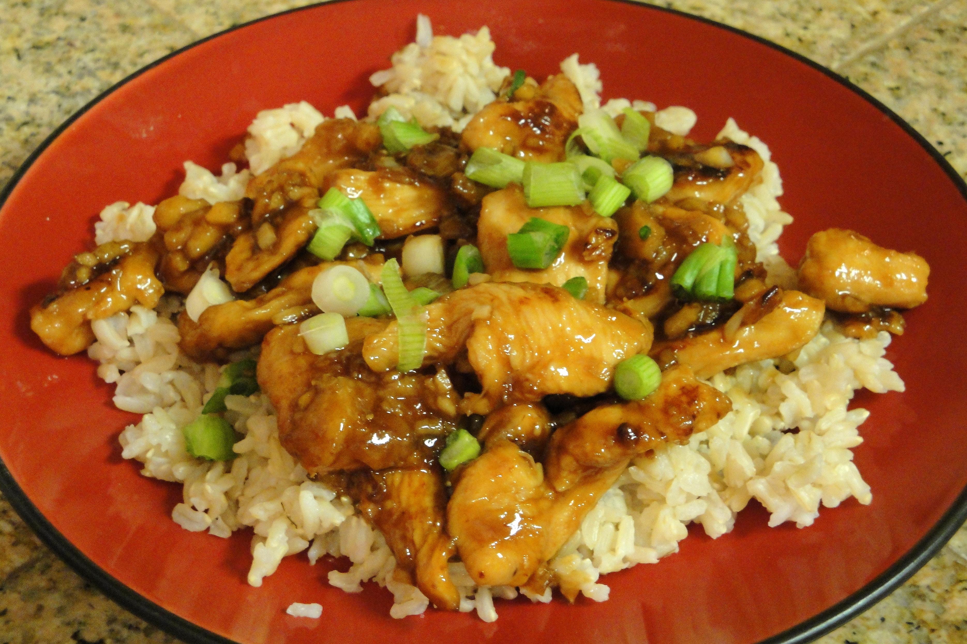 Kylling med ingefær (Gai Pad Khing)